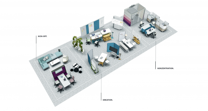 Neudenken verlangt Flexibilität | Büroeinrichtung - Büroplanung - Innenausbau | WSA