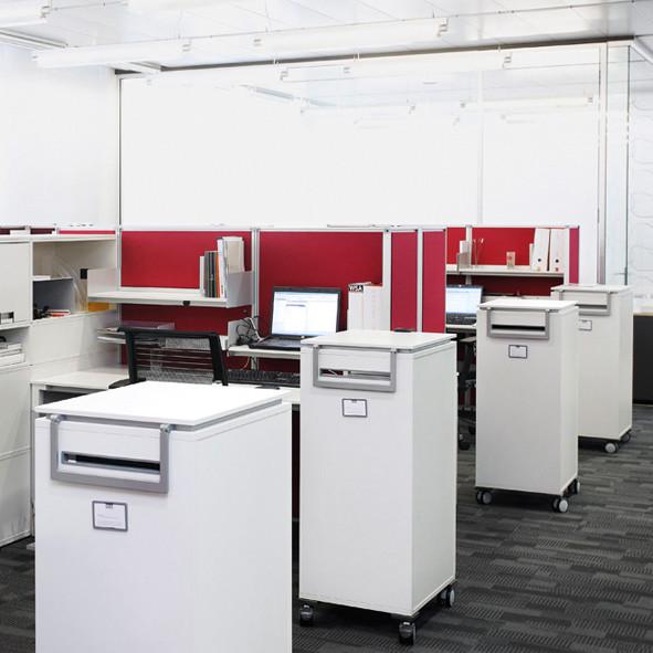 Persönlicher Stauraum | Büroeinrichtung - Büroplanung - Innenausbau | WSA