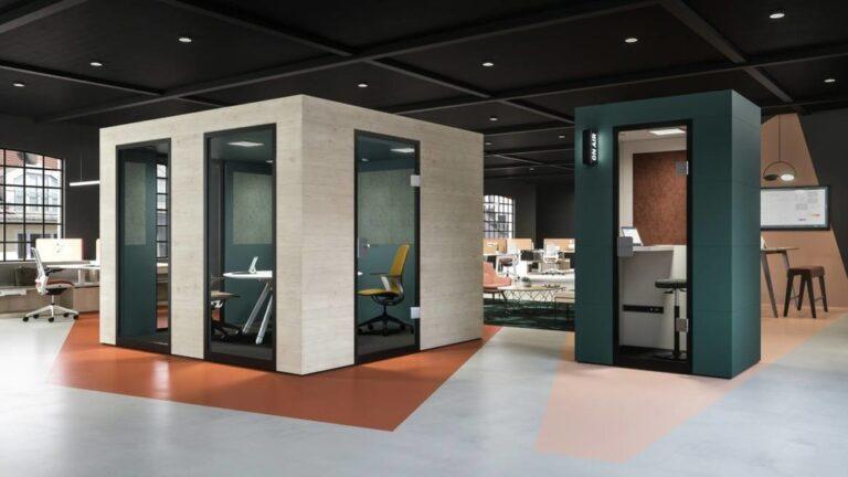 Steelcase Officebricks Acoustic Pods | Büroeinrichtung - Büroplanung - Innenausbau | WSA