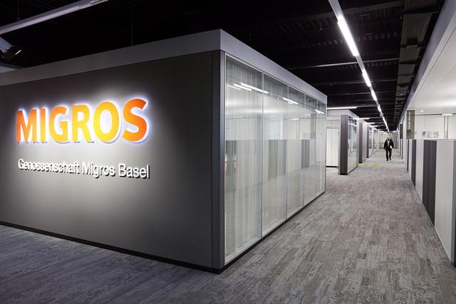 Genossenschaft Migros Basel | Büroeinrichtung - Büroplanung - Innenausbau | WSA