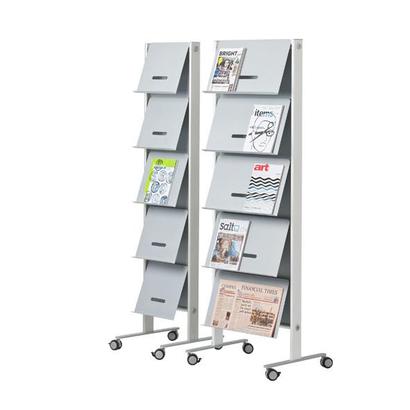 Round20 Alu brochure holder | Büroeinrichtung - Büroplanung - Innenausbau | WSA